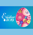 happy easter design template with colorful egg vector image vector image