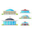 high top circus building icons vector image