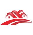 house community neighborhood vector image vector image