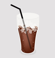 Iced Coffee Tea Background vector image vector image