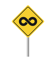 infinity road sign vector image vector image