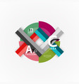 infographic options banner paper style vector image vector image