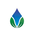 leaf waterdrop logo image vector image vector image