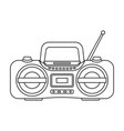 line art black and white boombox vector image vector image