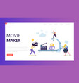making movie video production landing page vector image vector image