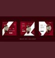 modern watch social media feed post design vector image vector image