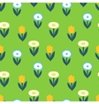 Ornate simple beauty flower seamless pattern vector image vector image