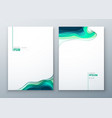 paper cut brochure design paper carve abstract vector image