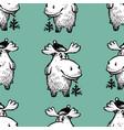 pattern funny cartoon deers vector image