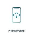 phone upload icon flat style icon design ui vector image