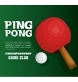 ping pong equipment sport vector image vector image