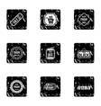 Price down icons set grunge style vector image vector image