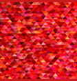 red geometrical abstract triangle mosaic vector image vector image