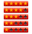 red star rating template vector image