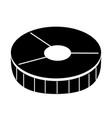salmon slice isolated icon vector image