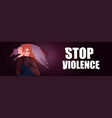 scared terrified woman stop violence vector image vector image
