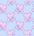 seamless floral pattern with pink violet flowers vector image vector image