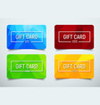 set of gift cards with a polygonal abstract vector image vector image
