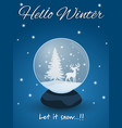 snow globe with deer vector image vector image
