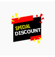 special discount template design vector image vector image