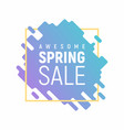 square pixel spring sale template vector image vector image
