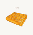 square water color pain waffle sketch vector image