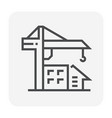 tower crane icon vector image vector image