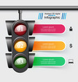 traffic light icon business travel inofgraphic vector image vector image