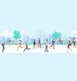urban park outdoor activity vector image