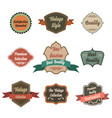 vintage label icon set with sticker badge and vector image
