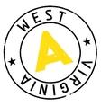 West Virginia stamp vector image vector image
