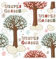 Winter Garden Seamless Pattern vector image