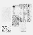 wooden and grunged textures vector image