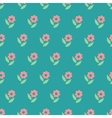 Ornate simple beauty flower seamless pattern vector image