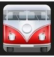 Square Icon Popular bus classic Camper Van vector image