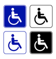 disabled handicap icon vector image