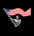 a man with american flag vector image
