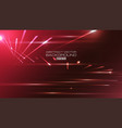 abstract straight lines with light on red vector image vector image