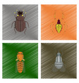 assembly flat shading style bug vector image vector image