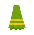 bath towel icon flat style vector image vector image