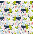 black panther in jungle seamless pattern vector image vector image