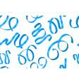 blue ribbon seamless pattern vector image