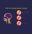 brain stroke icon design infographic health vector image vector image