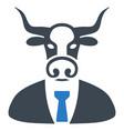 bull boss flat icon vector image vector image