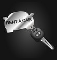 car rental symbol for business vector image vector image