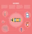car shop infographics vector image