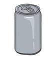 cartoon blank gray beer vector image vector image