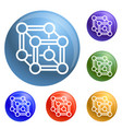 chemical cube icons set vector image