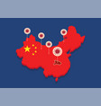china map country coronavirus concept vector image vector image