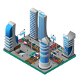 City Of Future Isometric Template vector image vector image